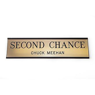 Personalized Stall Plate Metallic Look