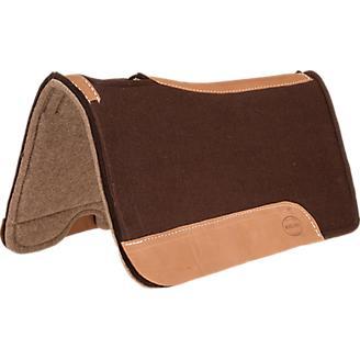 Mustang Chocolate Felt and Wool Saddle Pad