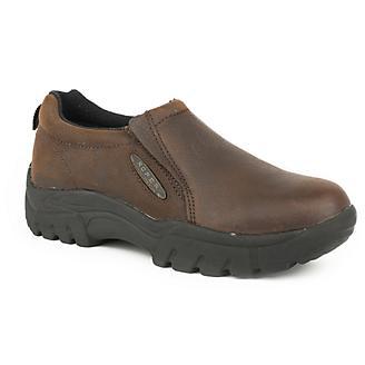 Roper Mens Performance Slip-On Dark Brown Shoes