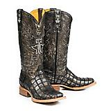 Tin Haul Ladies Meow Square Toe Boots