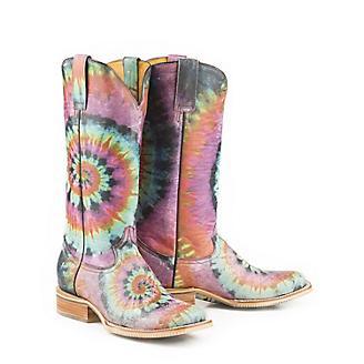 Tin Haul Ladies Groovy Square Toe Boots