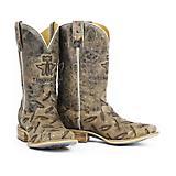 Tin Haul Mens Diamond Plate Sq Toe Boots