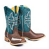 Tin Haul Mens Football Square Toe Boots