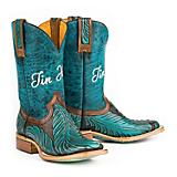 Tin Haul Ladies Feather Square Toe Boots 5
