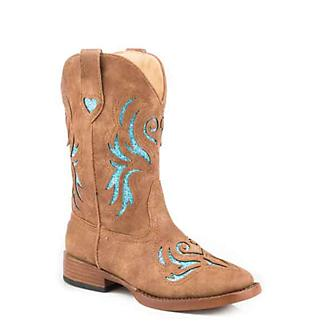 Roper Kids Glitter Breeze Square Toe Boots