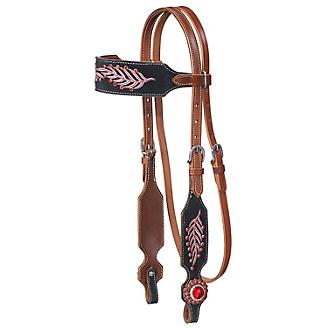 Tough-1 Lucy Browband Headstall with Fringe
