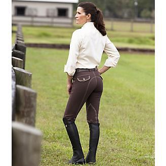 Huntley Ladies Brown Knee Patch Riding Pant