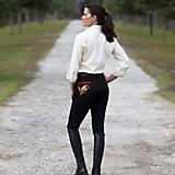 Huntley Ladies Black Knee Patch Riding Pant
