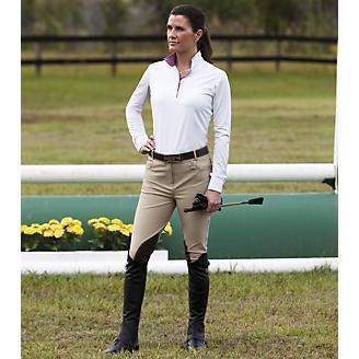 Huntley Ladies Beige Knee Patch Riding Pant