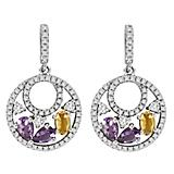 Kelly Herd Multi-Color Gems Earrings