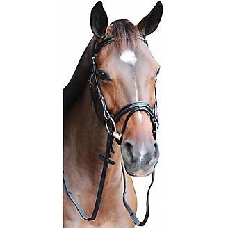 Henri de Rivel Piaffe Mono Crown Bridle w// Flash Nose Band with Patent Leather