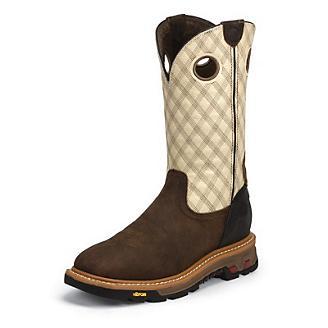 Justin Mens Commander-X5 Stl Bone Work Boot