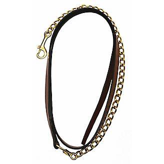 Henri De Rivel Leather Lead w/ 24In Chain
