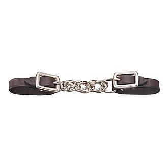 Tough-1 Mini Leather Flat Chain Curb Strap