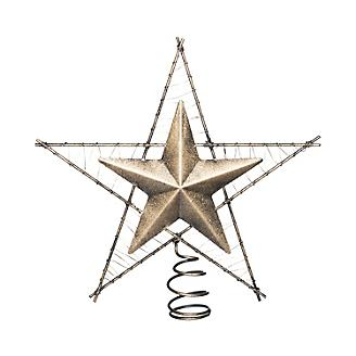 Star Tree Topper with Glitter Finish