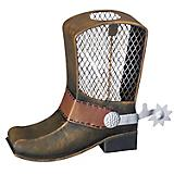 Cowboy Boot Metal Bank