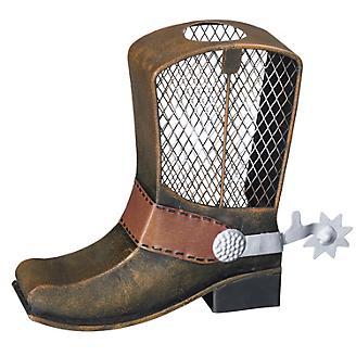 Cowboy Boot Metal Bank