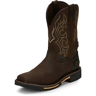 Justin Mens HyBred WP Rustic Work Boots