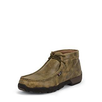 Justin Mens Prem Steel Tan Moc Work Shoes