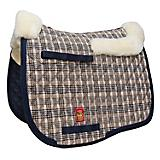 Lettia Baker Plaid Dressage Pad w. Sheepskin