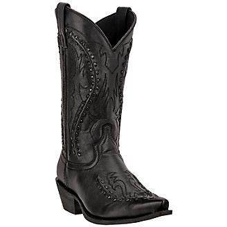 Laredo Mens Laramie Snip Toe Black Boots