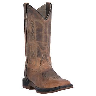 Laredo Mens Bennett Square Toe Tan Boots
