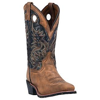 Laredo Mens Stillwater Sq Black/Tan Boots