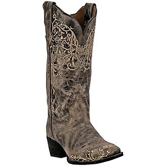 Laredo Ladies Jasmine Snip Toe Taupe Boots