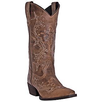Laredo Ladies Cross Point Snip Toe Rust Boots