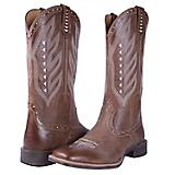 Noble Outfitters Ladies Vintage Sq Toe Tan Boots