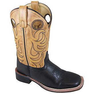 f3f2eff0072 Smoky Mountain Kids Jesse Sq Toe Boots 8.5C Black - Statelinetack.com