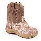 Roper Cowbabies Glitter Paisley Infant Boots