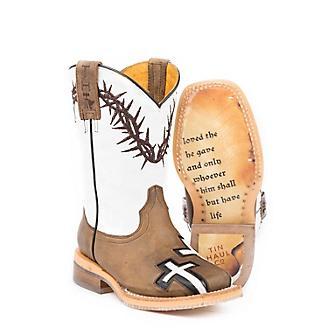 Tin Haul Kids Crosses John 316 Sole Boots