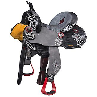 Silver Royal Black Widow Mini Barrel Saddle