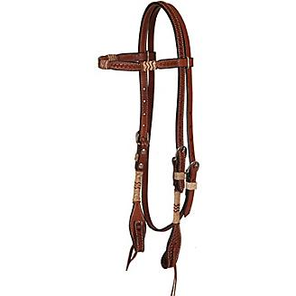 Oxbow Tack Browband Headstall with Rawhide Knots