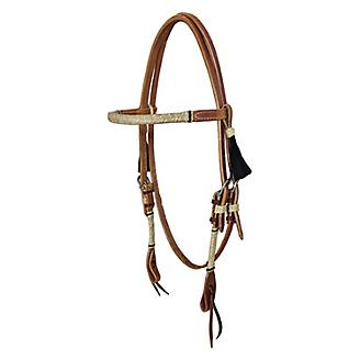 Oxbow Tack Rawhide Braided Harness Browband Headst