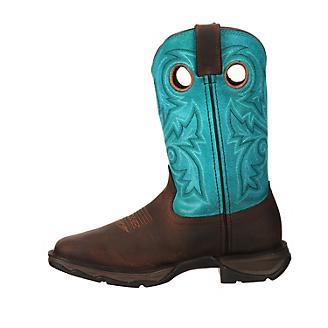Durango Lady Rebel Square Toe Turquoise Boots