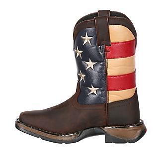 Lil Rebel Durango Kids Patritotic Sq Boots