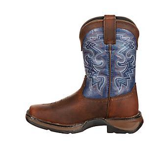 Lil Rebel Durango Kids Sq Toe Navy Blue Boots