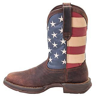 Durango Mens Rebel Sq Patriotic Flag Boots