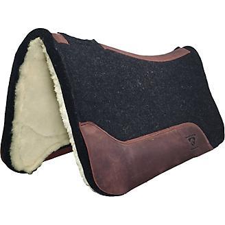 Diamond Wool Black Gold Roper w/Wool Fleece Pad