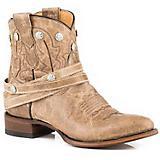 Roper Ladies Wanda Round Toe Tan Short Boots