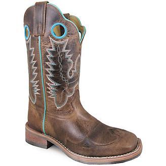 Smoky Mountain Ladies Marianna Sq Brn Boots