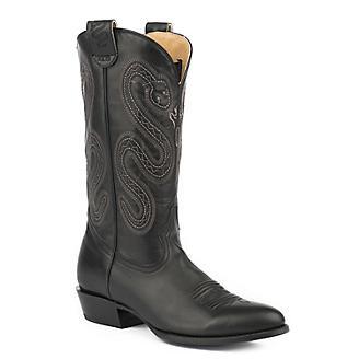 Roper Mens Pierce Conceal Carry Blk Boots
