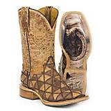 Tin Haul Ladies Patchwork Square Toe Boots