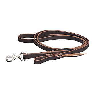 Tough1 Latigo Leather Roping Rein w/Tie Ends