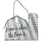 Barn Shaped Metal Sign