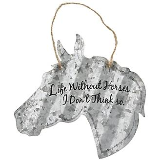 Horse Shaped Metal Sign