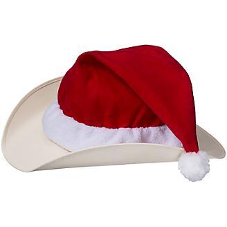 Holiday Santa Hat Helmet Cover
