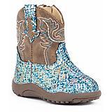 Roper Cowbabies Glitter Aztec Blue Boots